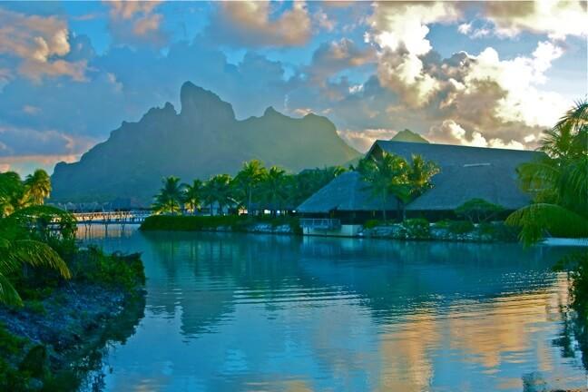 "Nicknamed the ""Island of Love"", there's no better honeymoon destination than Tahiti."