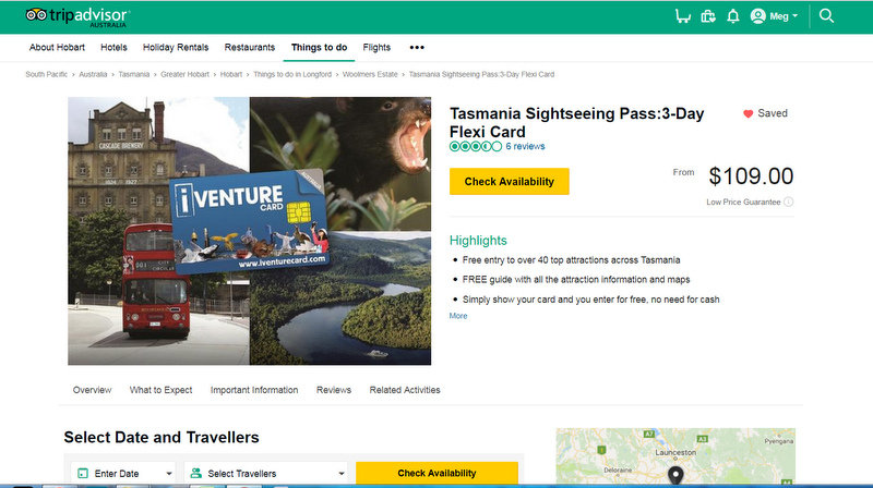 Experience booking tours through TripAdvisor