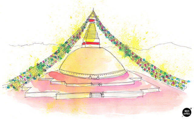 The Bodnath Stupa is one of the strongest symbols of Nepal.