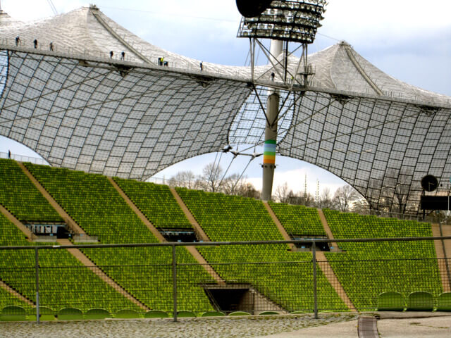 Channel your inner super hero by climbing Munich's Olympic Stadium Roof