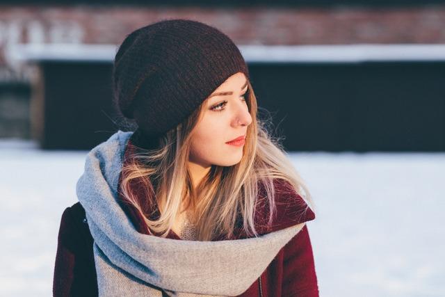 Female girl scarf fashion travel