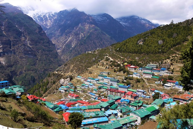 Namche Bazaar on the EBC Trek