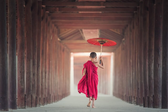 Myanmar SE Asia Monk RF
