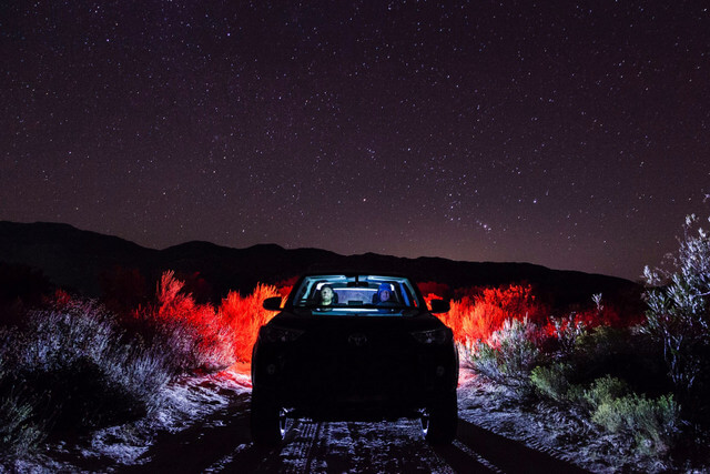 Starry Night Sky Roadtrip Car