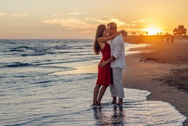 Sunset couple romance RF