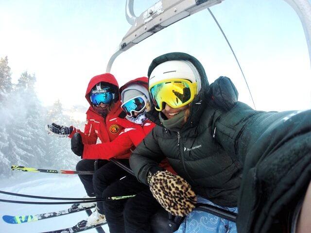 Ski snow RF