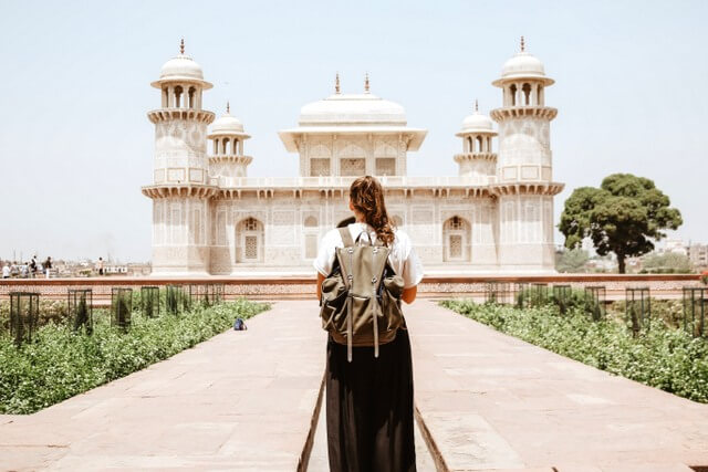 India female traveler RF