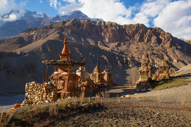 Chortens, Tangbe Nepal