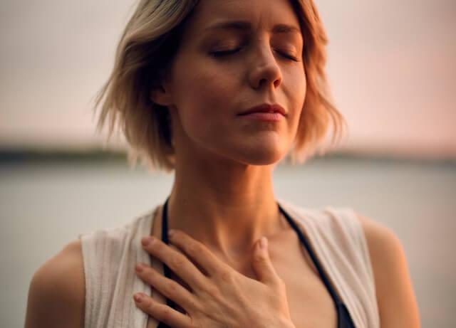Breathing woman RF