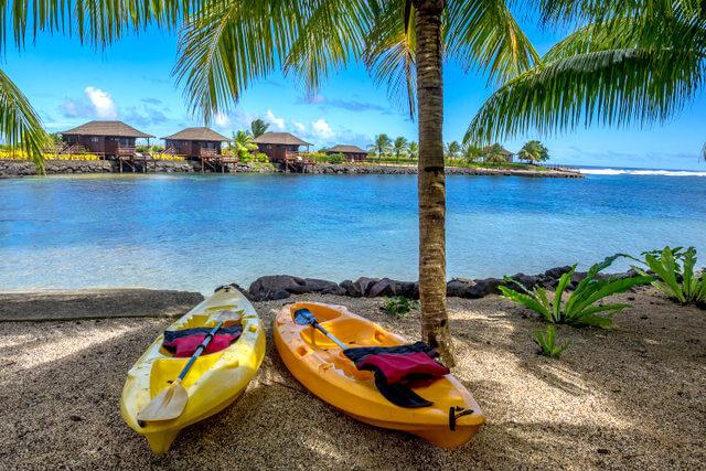 Aga-Reef-Resort-kayaking Samoa
